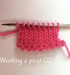 Working a picot cast-on: a tutorial