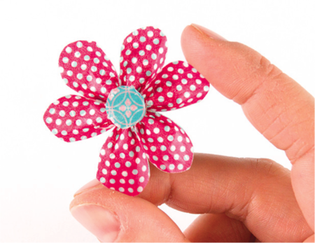 Bent Petal Washi Tape Flower
