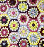Crocheted Flower Hexagon Blanket (Free Pattern)