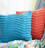 Crocheted Zigzag / Chevron Pillows (Free Pattern)