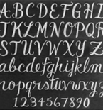 Draw Scripted Chalk Lettering