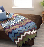 Crocheted Chevron Bedspread (Free Pattern)