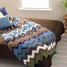Crocheted Chevron Bedspread (Free Pattern)