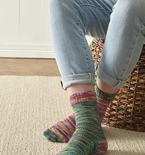 Knitted Mirror Socks (Free Pattern)