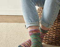 Knitted Mirror Socks (Free Pattern)