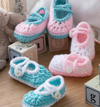 Two-Color Baby Booties (Free Crochet Pattern)