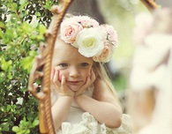 Rustic Chic Flower Girl Crown