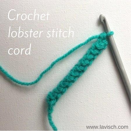Crochet a lobster cord: a tutorial