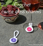 Making crochet wine glass charms