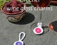 Making crochet wine glass charms