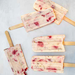 Yogurt Ice Pops with Strawberries and Brown Sugar Toasted Oats