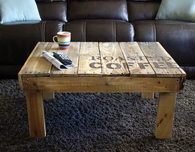 Coffee Table Made from Wood Pallets