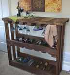 Wine Bar Recycled from Wood Pallets
