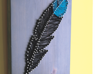 Feather String Art for Wall Hanging