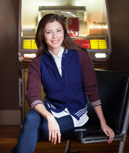 Letterman Cardigan Sweater (Free Knitting Pattern)