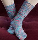 Colorful Lace Socks (Free Knitting Pattern)