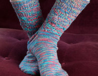 Colorful Lace Socks (Free Knitting Pattern)