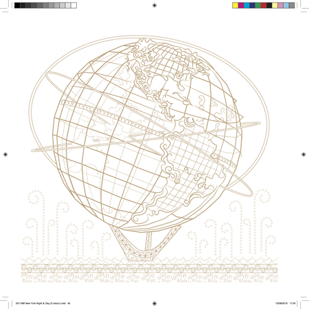 Unisphere Globe Adult Coloring Page