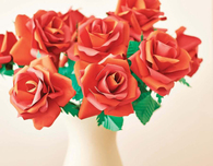 Bouquet of Red Paper Roses