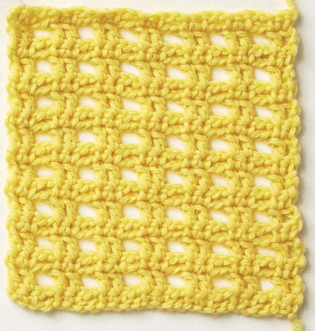 Checkerboard Lace Crochet Stitch (Free Pattern)