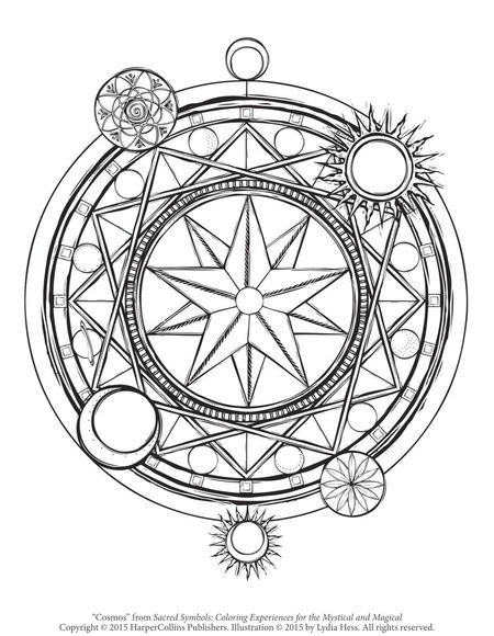 Free Coloring Page - Planetary Symbols