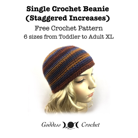 Single Crochet Beanie (Staggered Increses)