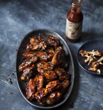 Smoky Rubbed Chicken Wings with Honey, Bourbon and Molasses