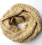 Crochet Infinity Scarf // The Kimberly Scarf