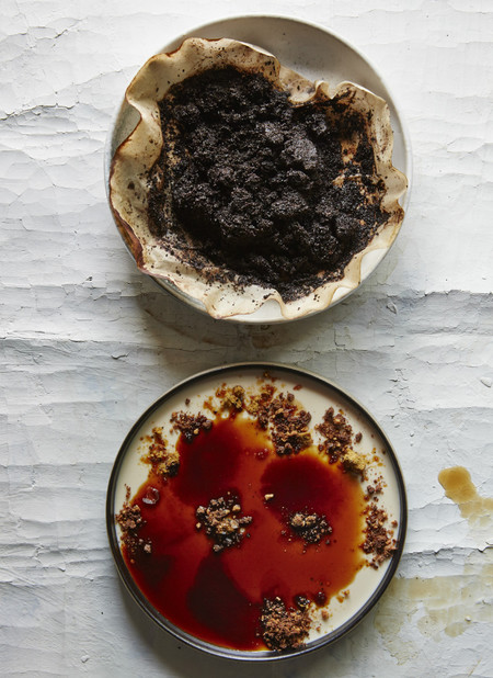 Panna Cotta with Coffee Grounds by Mads Refslund