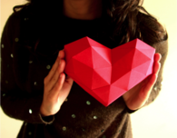 3D Origami Heart by Polimind