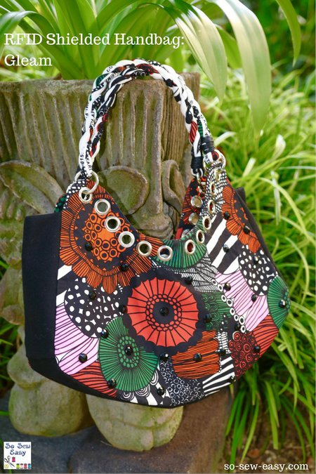 RFID shielded handbag FREE pattern and tutorial