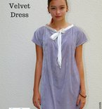 Crushed velvet dress FREE pattern and tutorial