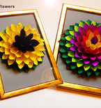 DIY 3D Flower gift decor