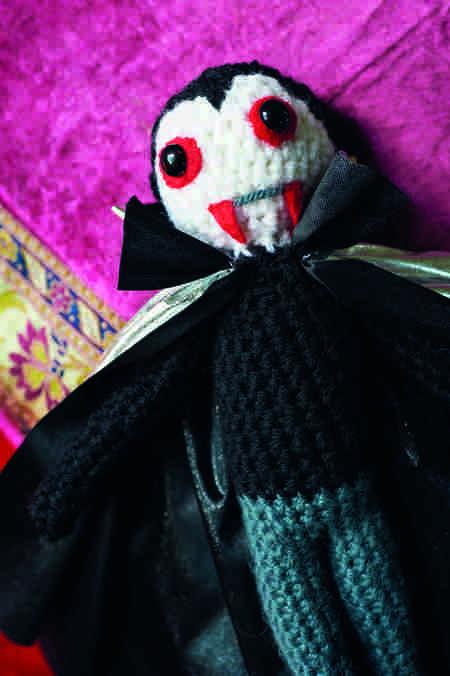 Crocheted Amigurumi Vampire