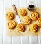 Pastry Snails with Spicy Pumpkin Filling