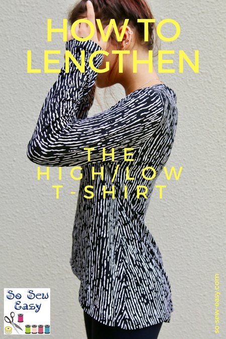 How to lengthen a sewing pattern