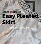 How to add lining to the easy pleated skirt