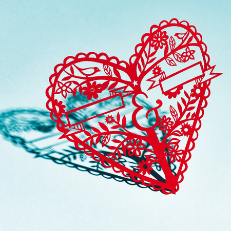 Papercut Heart Designs by Poppy Chancellor