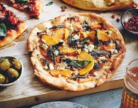 Squash Blue Cheese and Sage Pizza