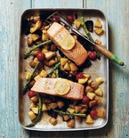 Lemon and Butter Baked Salmon with Spring Vegetables