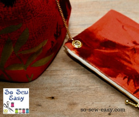 How to add a removable lined pouch to any bag