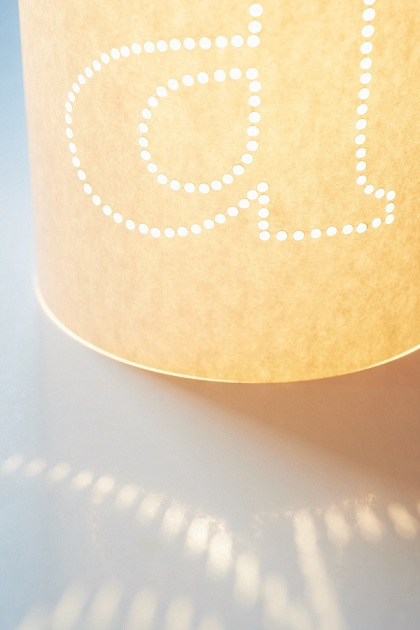 Simple Lampshade with Personalized Lettering