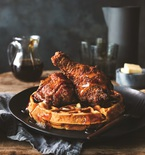 Fried Chicken and Sweet Potato Waffles