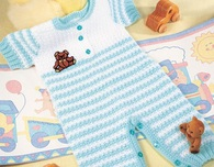 Crochet Striped Baby Overalls Outfit Crochet Pattern