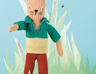 Carlos the Cat Knitted Doll (Free Knitting Pattern)
