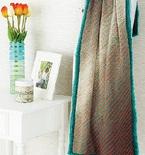 Knitted Stripey Blanket (Free Pattern)