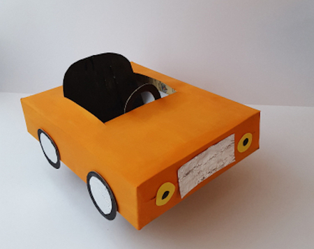 Toy Car Upcycled from Cereal Box