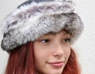 Winter hat with faux fur trimming