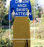 Denim Midi Skirt Pattern