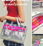 Fabric and Leather Handbag FREE Pattern